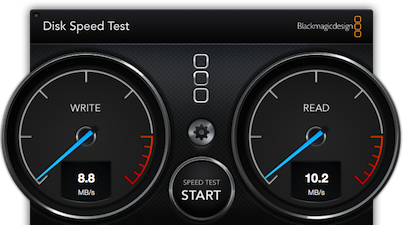 Drobo with Airport Extreme: 9Mb/s write, 10Mb/s read